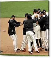 Joe Panik and Brandon Belt Canvas Print