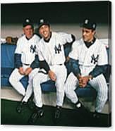 Joe Torre, Derek Jeter, and Don Zimmer Canvas Print
