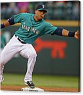 Johnny Giavotella and Brad Miller Canvas Print