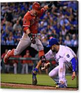 Johnny Giavotella and Eric Hosmer Canvas Print