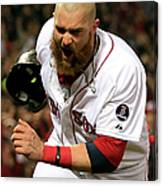 Jonny Gomes and Shane Victorino Canvas Print