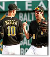 Jordy Mercer and Neil Walker Canvas Print