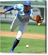 Jorge Polanco And Raul Mondesi Canvas Print