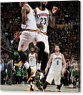 J.r. Smith and Lebron James Canvas Print