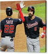 Juan Soto And Anthony Rendon Canvas Print