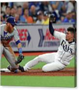 Justin Turner And Willy Adames Canvas Print