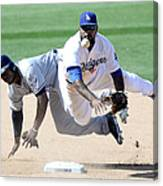 Justin Upton and Howie Kendrick Canvas Print