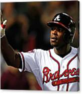 Justin Upton and Jason Heyward Canvas Print
