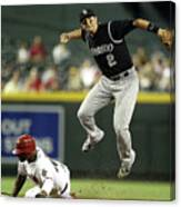 Justin Upton and Troy Tulowitzki Canvas Print