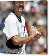 Justin Verlander and Juan Francisco Canvas Print