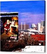 Kansas City Skyline at Christmas Canvas Print