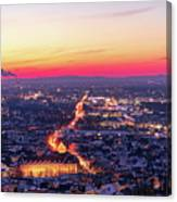 Karlsruhe in winter at sunset Canvas Print