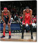 Kawhi Leonard and Bradley Beal Canvas Print
