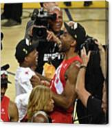 Kawhi Leonard and Kyle Lowry Canvas Print
