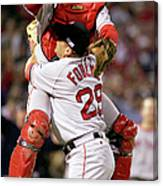 Keith Foulke and Jason Varitek Canvas Print