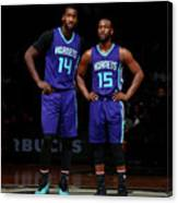 Kemba Walker and Michael Kidd-gilchrist Canvas Print