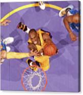 Kenyon Martin, Chauncey Billups, and Kobe Bryant Canvas Print