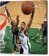 Kevin Durant and Giannis Antetokounmpo Canvas Print