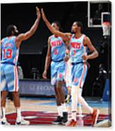 Kevin Durant and James Harden Canvas Print