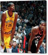 Kevin Durant and Kawhi Leonard Canvas Print