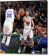Kevin Durant and Klay Thompson Canvas Print
