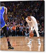 Kevin Durant and Russell Westbrook Canvas Print