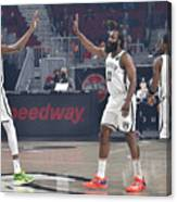 Kevin Durant, Kyrie Irving, and James Harden Canvas Print