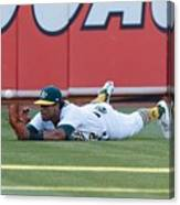 Khris Davis and George Springer Canvas Print