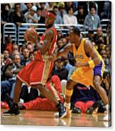 Kobe Bryant and Lebron James Canvas Print