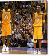 Kobe Bryant and Shaquille O'neal Canvas Print