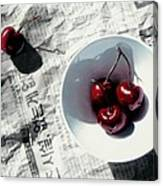 Korean Cherries Canvas Print