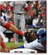 Kris Bryant And Eugenio Suarez Canvas Print