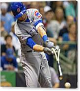 Kris Bryant and Jimmy Nelson Canvas Print