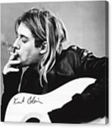 KURT COBAIN - SMOKING POSTER - 24x36 MUSIC GUITAR NIRVANA  Canvas Print
