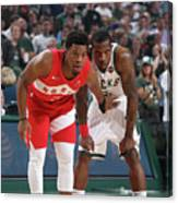 Kyle Lowry and Eric Bledsoe Canvas Print