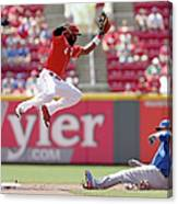 Kyle Schwarber and Brandon Phillips Canvas Print