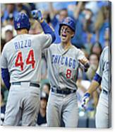 Kyle Schwarber, Anthony Rizzo, and Chris Coghlan Canvas Print