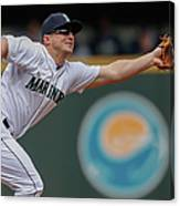Kyle Seager and Chris Denorfia Canvas Print