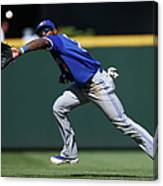 Kyle Seager and Jose Reyes Canvas Print