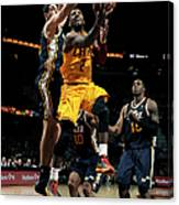 Kyrie Irving and Enes Kanter Canvas Print