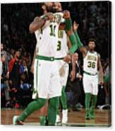 Kyrie Irving and Marcus Morris Canvas Print