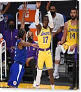 LA Clippers v Los Angeles Lakers Canvas Print