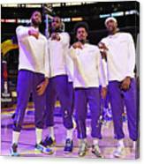 LA Clippers v Los Angeles Lakers Canvas Print