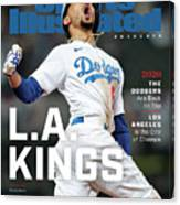 Los Angeles Dodgers Special World Series Commemorative Sports Illustrated Cover Canvas Print