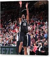 Lamarcus Aldridge and Jakob Poeltl Canvas Print