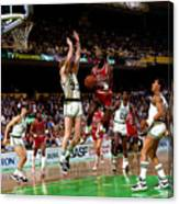 Larry Bird and Michael Jordan Canvas Print