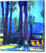 Lazy Day by the Pool Canvas Print