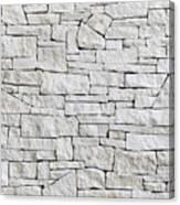 Limestone Wall - Front View, Many Blocks Canvas Print