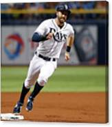 Logan Morrison and Evan Longoria Canvas Print