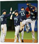 Logan Morrison, Seth Smith, and Kyle Seager Canvas Print